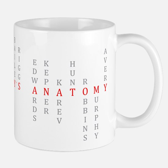 Grey's Vertical Character Names Mug