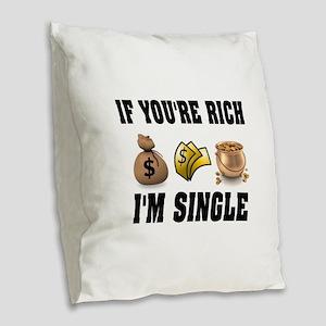 RICH Burlap Throw Pillow