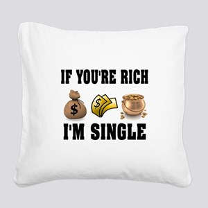 RICH Square Canvas Pillow