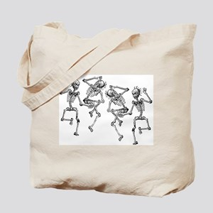 Dancing Skeletons Tote Bag