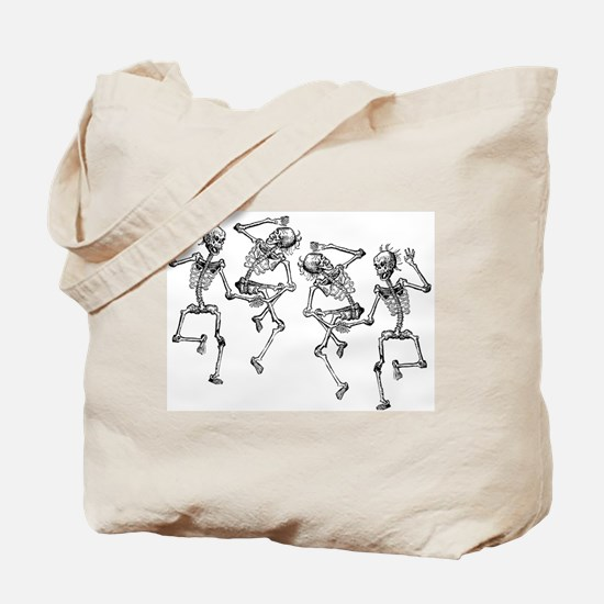 Dancing Skeletons Tote Bag