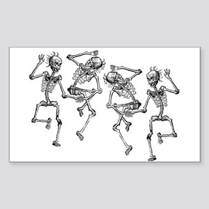 Dancing Skeletons Sticker (Rectangle)