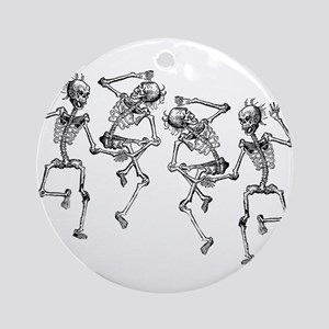 Dancing Skeletons Ornament (Round)