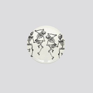 Dancing Skeletons Mini Button