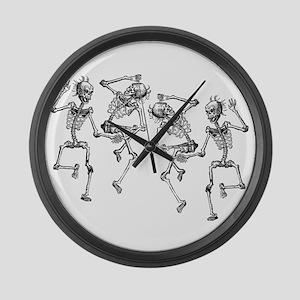 Dancing Skeletons Large Wall Clock