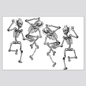 Dancing Skeletons Large Poster