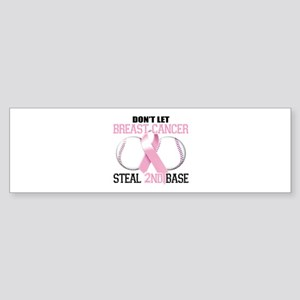 Don't Let Breast Cancer Steal 2nd Base Sticker (Bu