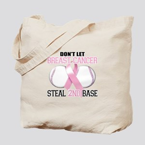 Don't Let Breast Cancer Steal 2nd Base Tote Bag