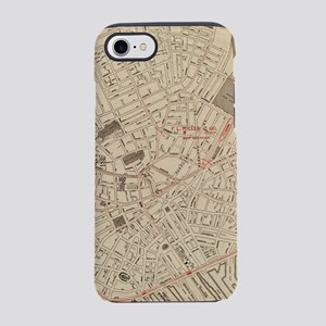 Vintage Map of Downtown Boston iPhone 7 Tough Case