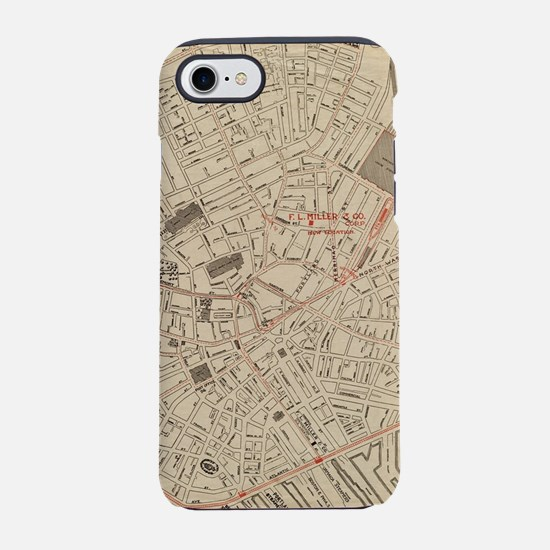 Vintage Map of Downtown Boston iPhone 7 Tough Case
