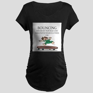 i love trampolines Maternity Dark T-Shirt