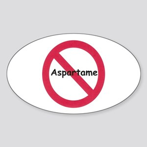 NO Aspartame Allowed Oval Sticker