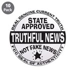"Truthful News 3.5"" Button (10 Pack)"