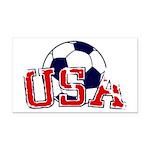 USA Soccer Rectangle Car Magnet