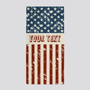 Personalize Usa Flag Beach Towel