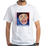 Happy Joe Big Mouth Cover T- White T-Shirt