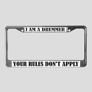Funny I Am A Drummer License Plate Frame