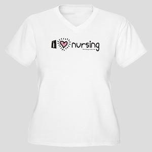 I Heart Nursing Women's Plus Size V-Neck T-Shirt