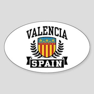 Valencia Spain Sticker (Oval)