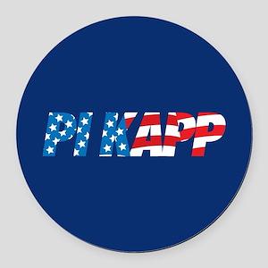 Pi Kappa Phi Pi Kapp Round Car Magnet