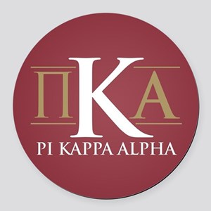 Pi Kappa Alpha Letters Round Car Magnet