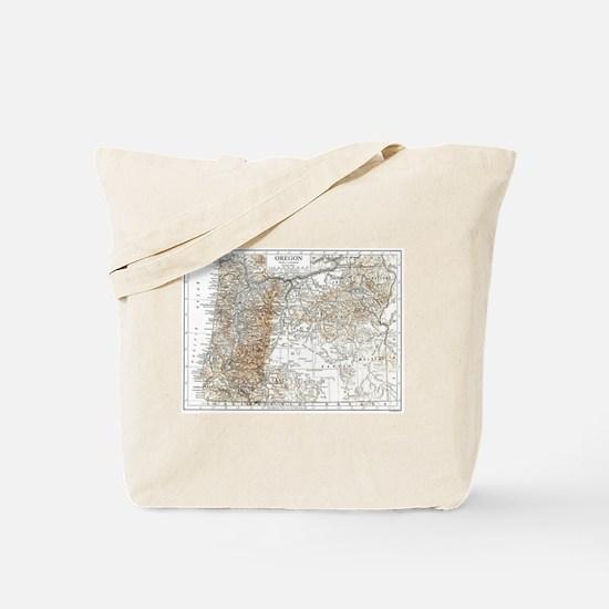 Vintage Map of Oregon (1911) 2 Tote Bag