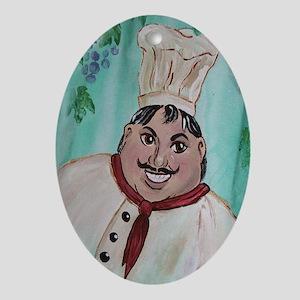Chef Luigi Oval Ornament