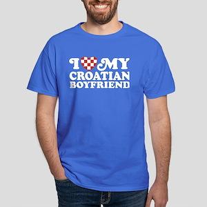 I Love My Croatian Boyfriend Dark T-Shirt