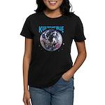 Kiss The Planet Blue Cover Women's Dark T-Shirt
