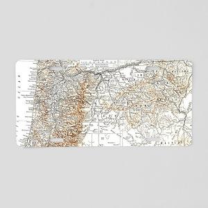 Vintage Map of Oregon (1911 Aluminum License Plate