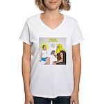Dr. Thor Reflex Test Women's V-Neck T-Shirt