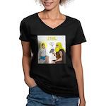 Dr. Thor Reflex Test Women's V-Neck Dark T-Shirt