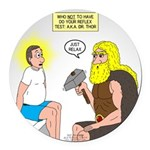 Dr. Thor Reflex Test Round Car Magnet