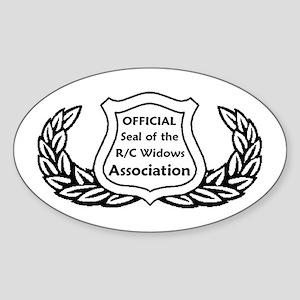 """R/C Widows"" - Oval Sticker"