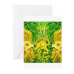 Green Totonac Greeting Cards (Pk of 10)
