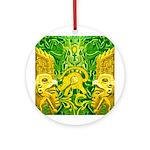 Green Totonac Ornament (Round)