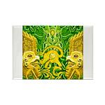 Green Totonac Rectangle Magnet