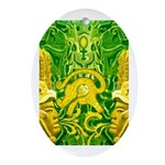 Green Totonac Oval Ornament