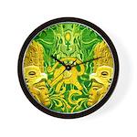 Green Totonac Wall Clock
