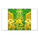 Green Totonac Rectangle Sticker