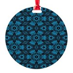 Black and Blue String Art 4406 Ornament