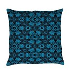 Black and Blue String Art 4406 Everyday Pillow