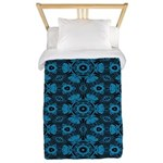 Black and Blue String Art 4406 Twin Duvet Cover