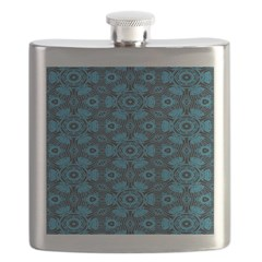 Black and Blue String Art 4406 Flask
