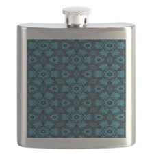 Black and Blue String Art 4406 Flask