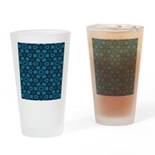 Black and Blue String Art 4406 Drinking Glass
