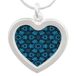 Black and Blue String Art 4406 Necklaces
