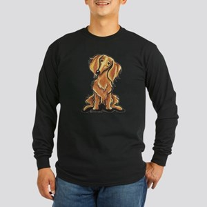 Longhair Dachshund Lover Long Sleeve Dark T-Shirt