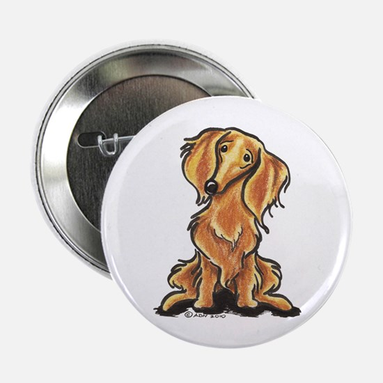 "Longhair Dachshund Lover 2.25"" Button"