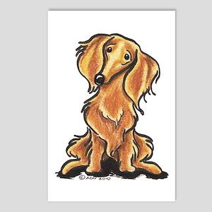 Longhair Dachshund Lover Postcards (Package of 8)